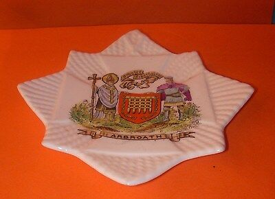 Shelley Crested China Star Pin Dish Arbroath Crest
