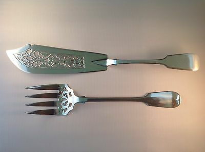 Silver Fish Servers - London 1861 by Chawner & Co