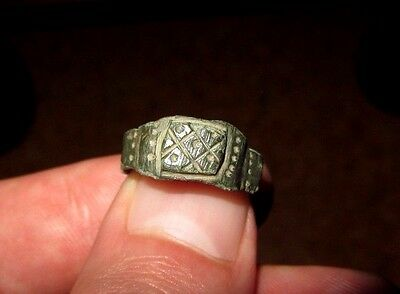 Superb Ancient Late Roman Bronze Ring 5st - 9rd c. AD.