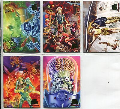 Mars Attacks Invasion Complete 5 Card Chase Set Masterpieces