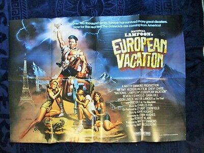 NATIONAL LAMPOON EUROPEAN VACATION 1985 40x30 ins GENUINE UK QUAD FILM  POSTER