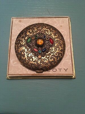Vintage COTY Compact With Display And Matching Hair Band