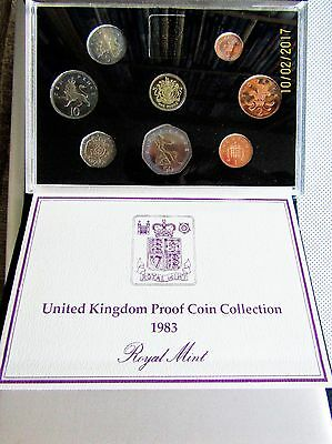1983 Royal Mint UK 8 COIN PROOF SET with COA