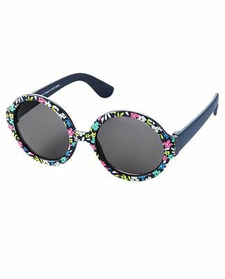 New Carter's Sunglasses Floral Round Frame Size baby 0 - 24m NWT Flexible Arms
