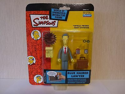 Simpsons World of Springfield WoS Interactive Action Figure Blue Haired Lawyer