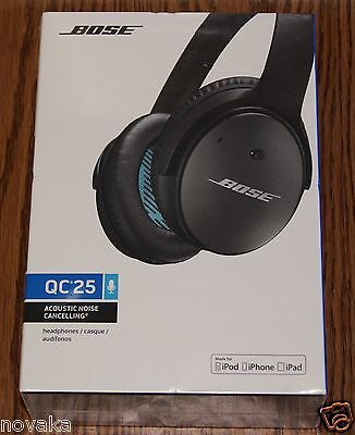 NEW BOSE QuietComfort 25 Noise Cancelling QC25 Headphones for Apple 715053-0010