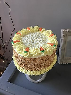 Artificial Fake Carrot Cake 6in Round