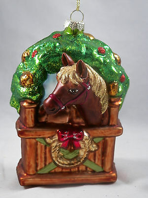 Painted Horse in Stable Christmas Tree Orament new holiday