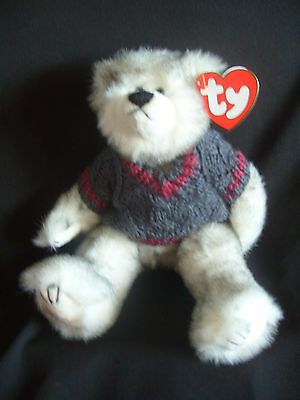 Ty Beanies Bear - Attic Treasures Fairbanks With Jumper And Tag