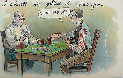 Postcard-Comic:posted 1912. 'i Shall Be Glad To See You'. From 'marks'