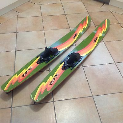 Classic Retro Vel Aqua Tynees Children's  Timber Double Water Skis
