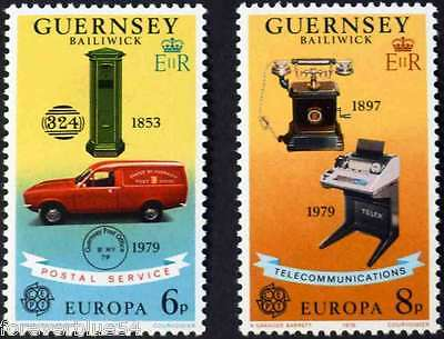 Guernsey 1979 SG 201-202 MNH Europa Communications combined postage