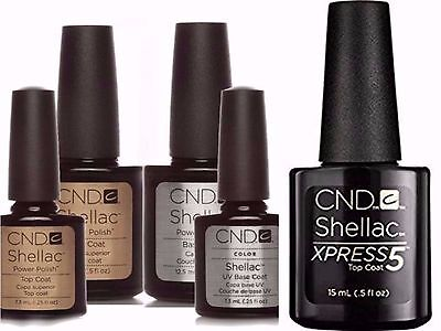 ❤️ CND Shellac Nail Polish ❤️ Top & Base Coat ❤️ Express top coat ❤️  UK SELLER