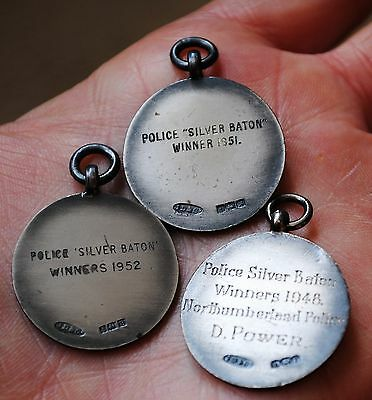 Solid silver the Royal life saving society comp medals Northumberland police