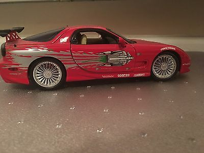 1/18 Die cast Mazda RX7 Fast & Furious, Racing Champions, Doms RX7