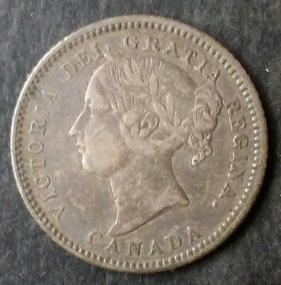 1880 H Canada 10c Silver Ten-Cent Piece