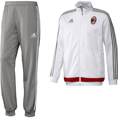 Authentic Adidas Junior Kid's AC Milan Presentation Tracksuit 2015/16, 15-16yrs