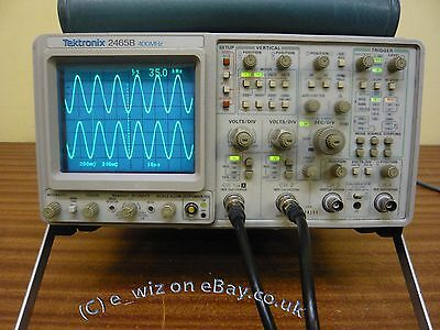 TEKTRONIX 2465B Oscilloscope TESTED ALL in GOOD WORKING ORDER