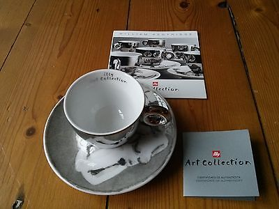 Very Rare Illy Art Collection 2008 William Kentridge Espresso Cup & saucer boxed