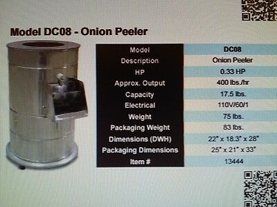Omcan DC08  Commercial Kitchen Onion Electric Peeler----- NEW-----