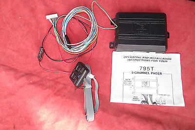 DEI 795t 3 channel pager; car alarm