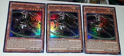RATE EN016 1ST ED 3X ZOODIAC WHIPTAIL SUPER RARE CARD