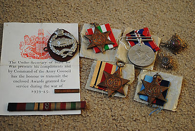 WW2 medals officers tank corps collection