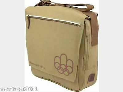 Olympics Museum Montreal Canada 1976 Vintage Canvas Messenger Satchel Bag Bnwt