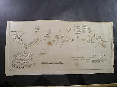 18thC River Salwarp Navigable Canal Map Droitwich to the River Severn    (P8)