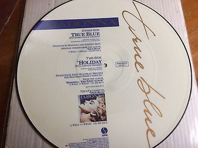 "Vinyl 12"" Picture Disc Record Madonna True Blue Holiday"