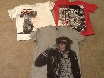 Mixed  bundle of ( older) boys t- shirts Age 13-14 yrs