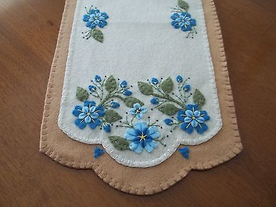 Spring Shades of Blue Table Runner/Candle Mat