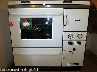 Wamsler 900 CH Wood Coal Multi Fuel Central Heating Cooker 18kW White