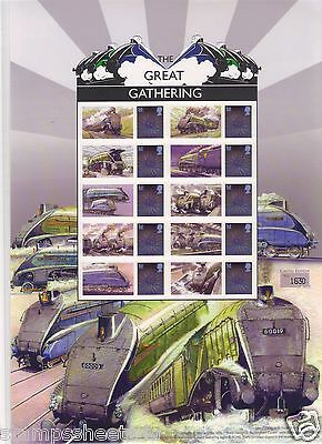 BC-412 GREAT GATHERING - Steam Trains - Buckingham Business SMILERS Stamp Sheet
