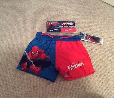 Boys Marvel Ultimate Spider-Man Magic Swimming Shorts 18-24 Months BNWT