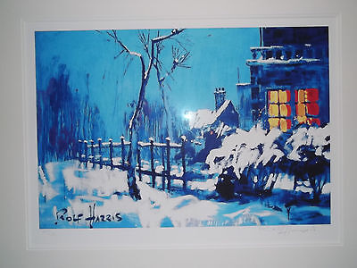 Rolf Harris - Christmas Eve In The Snow Framed Signed Limited Edition Print