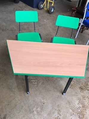 kids Adjustable desk and 2x Chairs Study Playroom Bedroom Child's Desk Children