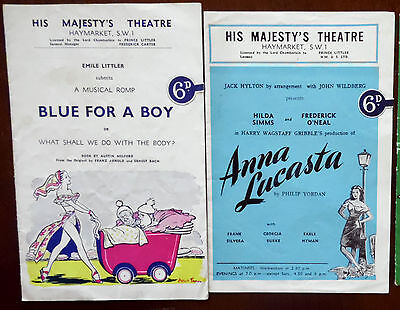 His Majesty's Theatre Programmes, Blue for a Boy & Anna Lucasta, Early 1950s