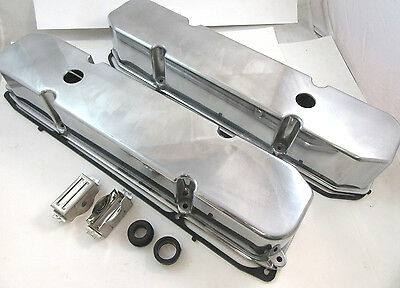 Polished Aluminum Mopar Dodge Chrysler Plymouth 383 440 Valve Covers W/ Gaskets