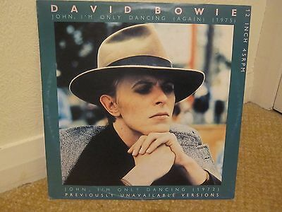 "David Bowie - John I'm Only Dancing 1 & 2  - 12"" Vinyl Single"