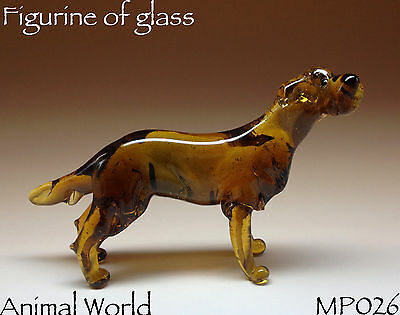 Figurine Dog Irish Wolfhound Blown glass Souvenirs Russia High Quality