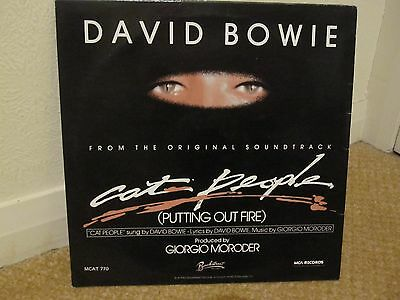 "DAVID BOWIE - CAT PEOPLE (putting out fire)/ PAUL'S THEME (jogging c - 12"" VINYL"