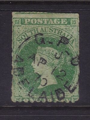 SA Sg 52,Sc# 28; 1d Grey-green Rouletted & Perf 11½-12½,VFU.
