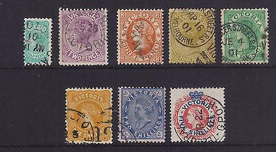 Victoria Sg376/83; 1901 No 'POSTAGE' set Superb FU.