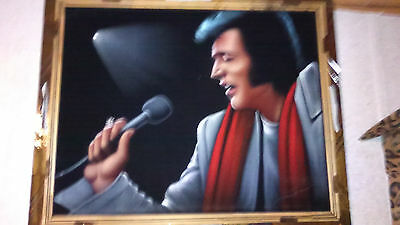Super Nice And Best Looking Elvis Presley Velvet Painting