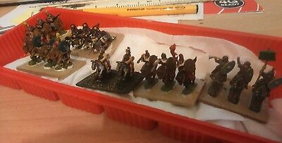 VINTAGE 15mm lot metal PAINTED BASED ANICENT CAVALRY roman