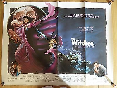 THE WITCHES (1990) - original UK quad film/movie poster, Anjelica Huston
