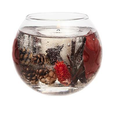 Stoneglow Log Fire Gel Fish Bowl Candle