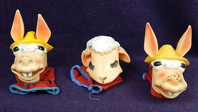Lamb Chop and 2 Charie the Horse Puppets~Tarcher~Shari Lewis~1960's