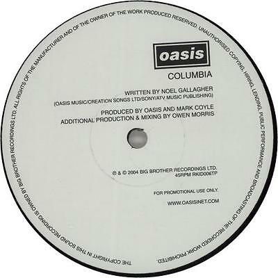"Oasis Columbia UK 12"" vinyl single record (Maxi) promo RKID006TP BIG BROTHER"